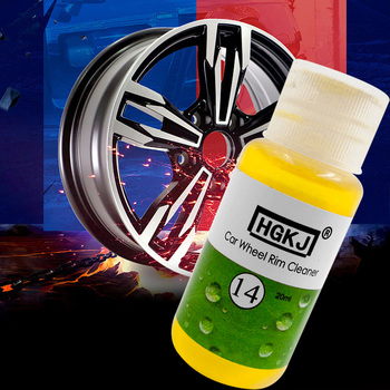 20ML HGKJ-14 Car Wheel Ring Cleaner High Concentrate Detergent Remove Rust Tire Car Wash Liquid Cleaning Agent Auto Maintenance image