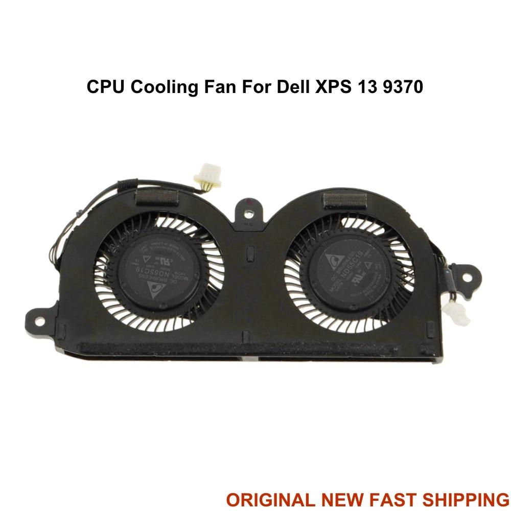 Ноутбук Процессор вентилятор охлаждения для ноутбука Dell XPS 13 9370 0980WH 980WH Тетрадь ПК Вентиляторы радиатор ND55C19-16M01 DFS350705PQ0T DC 5V 4PIN