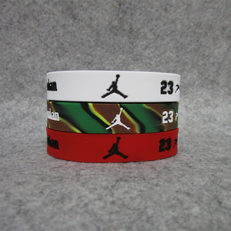 Basketball Star 23 Michael. Jordan Trapeze Double Layer Adjustable Bracelet Signature Silica Gel Sports Wrist Strap Top Grade