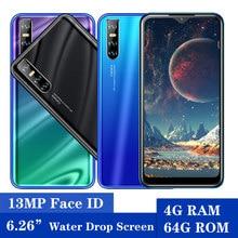 A21s 13mp 4gb ram 64gb rom 6.26 polegada gota de água da tela face id desbloqueado quad core smartphone android celular barato celulares