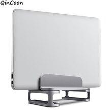 "Soporte de refrigeración Vertical para ordenador portátil, base de escritorio individual/doble de aluminio con base ajustable para Notebook MacBook Dell HP More 10 17,3"""