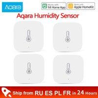 Xiaomi Aqara de temperatura y humedad Sensor de medio ambiente de presión de aire Mijia Smart ZigBee Sensrs Control inalámbrico Mi casa puerta de entrada