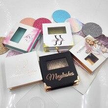 100 шт Заказная коробка с логотипом и норковыми ресницами