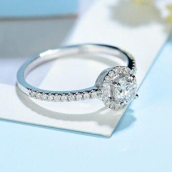 Natural Diamonds 10K white gold Engagement Ring 2
