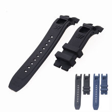 24mm silicone watch strap for Invicta S1 watch black blue watchbands bracelet belt comfortable and waterproof(China)