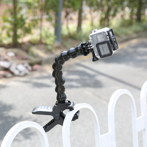 Image 3 - Jaws Flex Clamp Mount For GoPro Hero 9 8 7 5 Flexible Adjustable Gooseneck for Go Pro 9 8 7 5 Sjcam Yi Camera Tripod Accessries