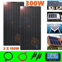 Panel solar 300w kit completo 12v 24v cargador solar de batería placa solar 12v monocristalino célula solar para RV 1000w sistema casero kit coche barco viaje