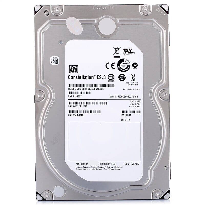 """New HDD For Seagate Brand 4TB 3.5"""" SATA 6 Gb/s 128MB 7200RPM For Internal HDD For Enterprise Class HDD For ST4000NM0033 2"""