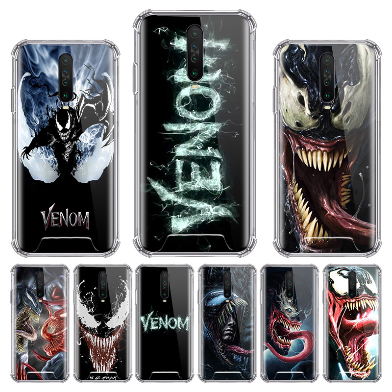 Venom Marvel Villain Case For Xiaomi Redmi Note 8T 9 Pro Max 8 9S 7 6 7A 6A K20 K30 Pro Zoom Airbag Anti Sac Phone Shell
