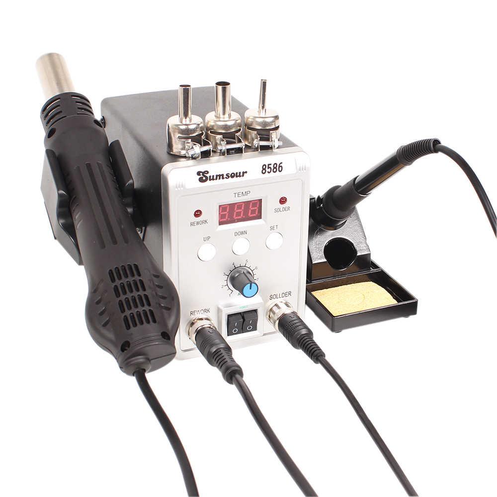 Soldering Iron Hot Air Rework Station Air Gun LED Digital Display Welder Repair