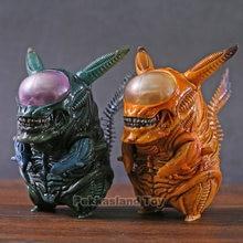 Alienígena figura de pvc engraçado xenomorph guerreiro aliens vs predador avp bonito q boneca brinquedo