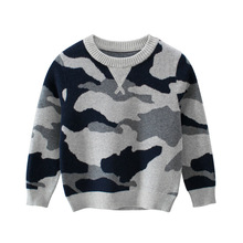 2019 Autumn Winter Children Knitted Sweater For Girls Camouflage Sweaters Baby Girl Clothes Kids Pullover For Boys 2-8 Years kids sweater for girls sweaters spring autumn child clothes winter 2018 children sweater size 45 6 7 8 9 10 11 12 13 14 15 years