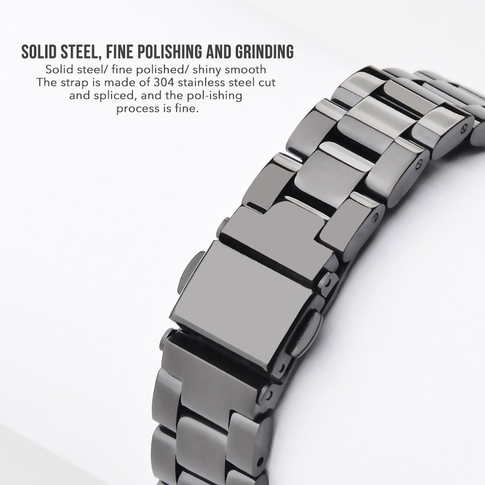 Hangrui For Mi Band 4 Metal Strap Stainless Steel Wrist Strap For Xiaomi Mi Band 3 Bracelet For Mi Band4 NFC Global