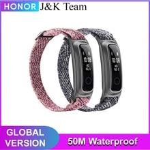Huawei Honor להקת 5 ספורט חכם צמיד ספורט להקת 50m עמיד למים כושר Tracker מגע מסך הודעה הודעת שיחה