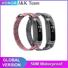 Huawei Honor Band 5 Sport Smart Armband Sport Band 50M Waterdichte Fitness Tracker Touch Screen Bericht Call Kennisgeving