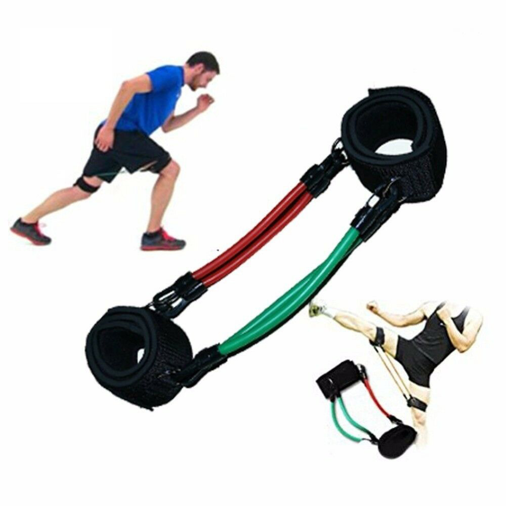 Taekwondo Trainer Resistance Bands Speed Agility Training Leg Running Tubes Exercise For Football Basketball Players Sport Set