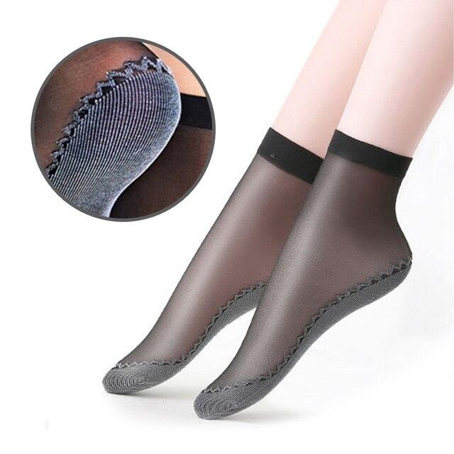 Набор хлопковых мягких модных ультратонких дышащих прозрачных женских носков 3