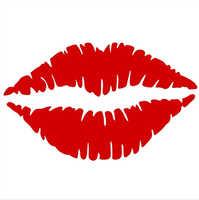 1 piezas General hermoso labios rojo Etiqueta de PVC del coche del vehículo de la pared etiqueta del ordenador portátil etiqueta engomada del coche de accesorios