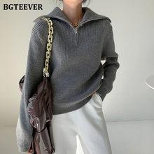 BGTEEVER – pull à col roulé épais pour femme, manches longues, ample, couleur unie, tricot, collection automne et hiver