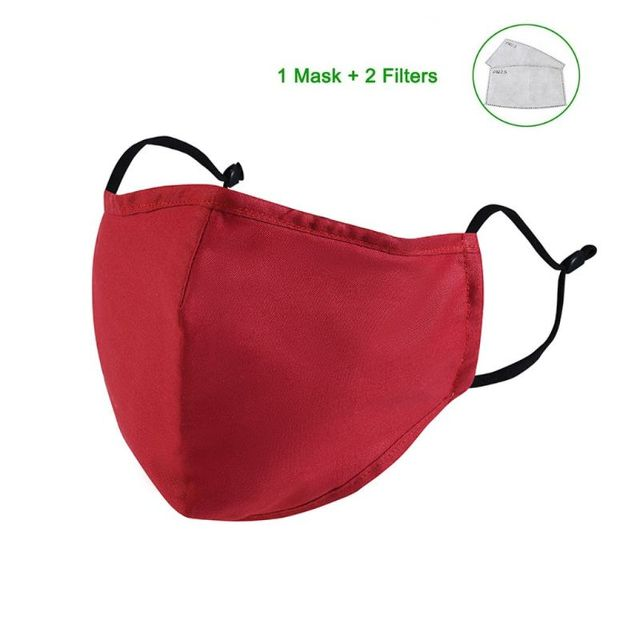 Cotton PM2.5 Mouth Mask Anti Dust Mask Bacteria Proof Flu Face Masks Care X6HB 3