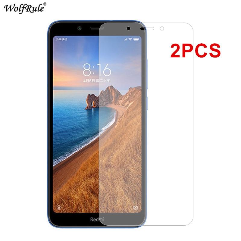 2Pcs Screen Protector For Xiaomi Redmi 7A Glass 9A 9C 9 6A 6 8 8A Tempered Glass Protective Phone Film For Xiaomi Redmi 6 6A 7A(China)