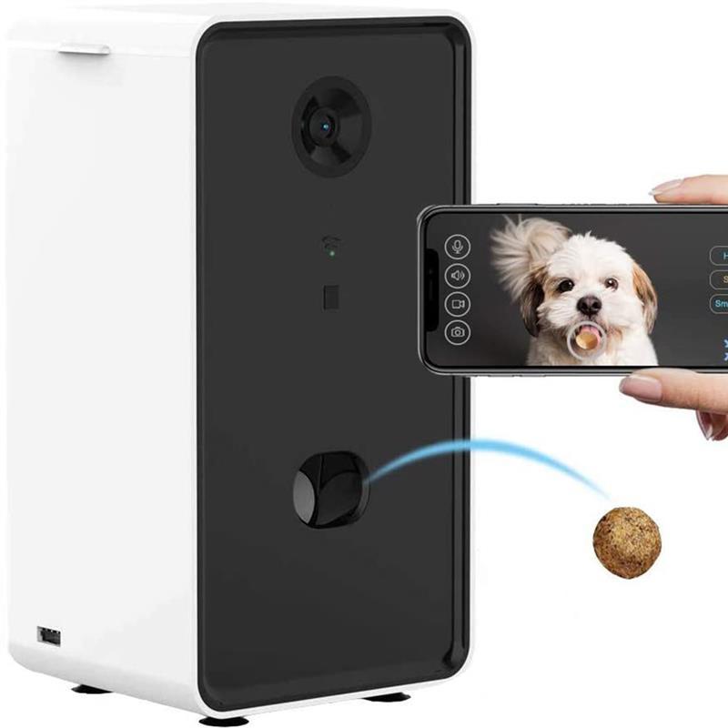 Smart Pet Remote Feeder Dog Puppy Camera Treat Dispenser With 2-Way Audio 720P Night Vision Camera Interactive Comedero Perro