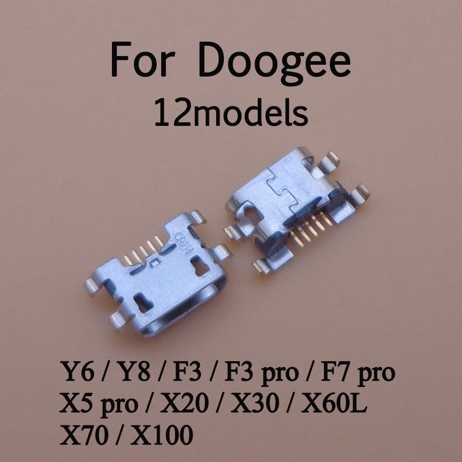 5pcs For Doogee Y6 Piano Y8 Y8C F3 F3 F5 Mini F7 X5 Pro Micro USB Connector Charging Port Jack Socket Power Plug Dock