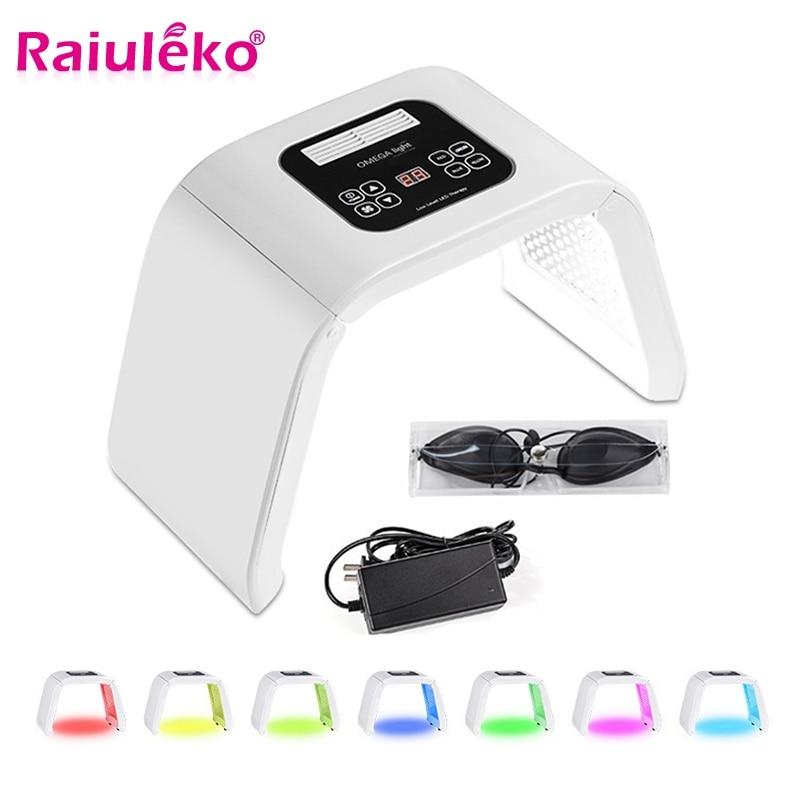 7 cor Lâmpada LED Photon Terapia de Luz Máquina Da Beleza PDT Tratamento Da Pele Removedor de Acne Anti-rugas Máscara de Spa Portátil máquina