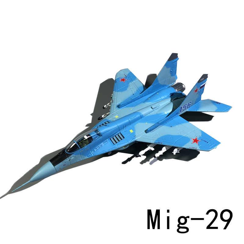 MiG 29 Fulcrum Angkatan Udara Rusia MiG-29 Militer Pesawat Tempur Model Model 1/100 18 Cm Diecast Pesawat Koleksi
