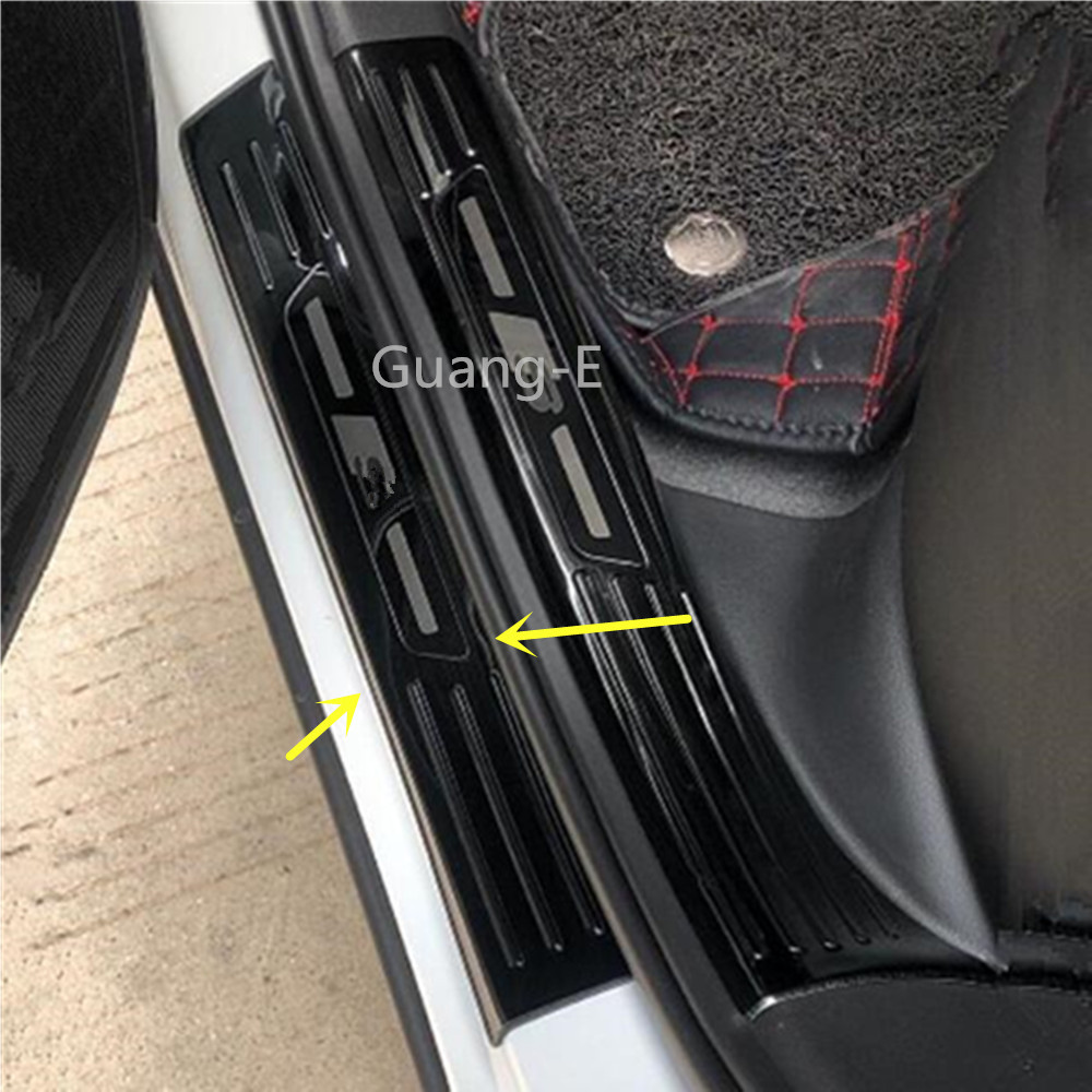 for Peugeot  2008 2014-2017 Steel Outer Side Scuff Plate Door Sill Cover 4PCS