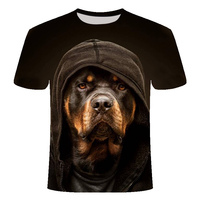2021 New 3D Dog T Shirt stampata uomo/donna Hip Hop Summer Funnyt Cat Streetwear Tshirt top manica corta Casual o-collo animale