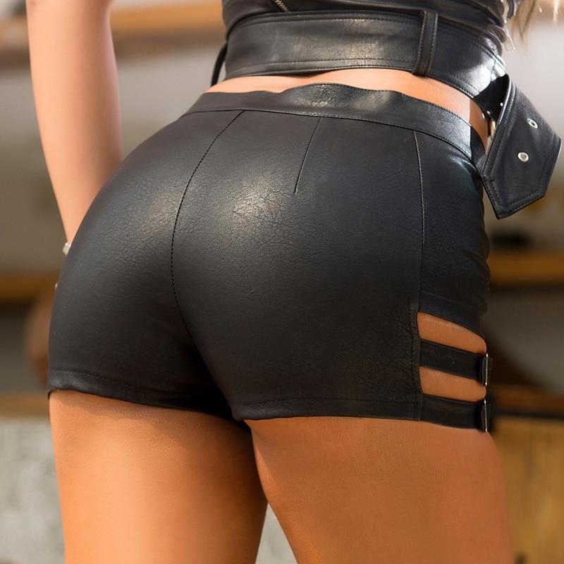 GAOKE Short Women Summer Sexy Black Shorts For Women 2020 Lady Leather Shorts Mini Shorts Slim Hip NEW Casual 2020