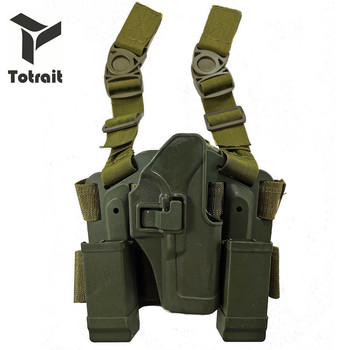 Totrait Tactical Glock 17 Leg Holster Military Shooting Pistol Thigh Leg Holster For Glock 17 19 22 23 31 32 black/green/sand tactical lv3 glock leg holster with flashlight fit for glock 17 19 22 23 31 32 glock gun military hungting holster