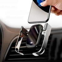 Baseus 15W Auto Drahtlose Ladegerät Infrarot Sensor Qi Drahtlose Ladegerät im Auto Air Vent Halterung Halter Drahtlose Lade Telefon ladegerät