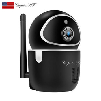 US Captain  WIFI Network Smart HD Web Camera, Remote Home Monitoring Wireless Camera, Smart Wireless Camera wifi wireless network hd head cloud monitoring smart camera phone remote broadcast