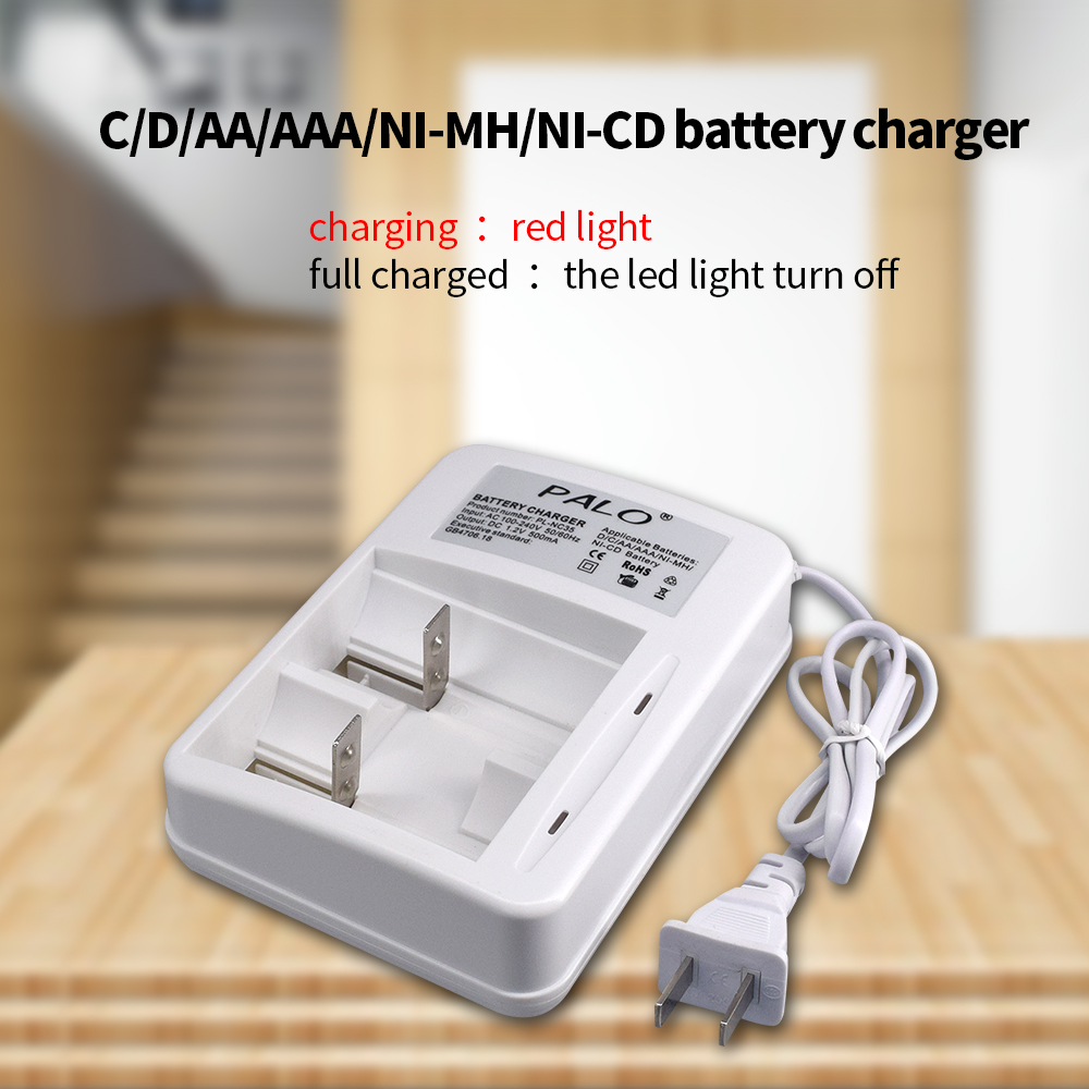 PALO New Type Charger High Quality Smart Intelligent Quick LED Battery Charger For AA AAA C D Size Rechareable Batteries in Chargers from Consumer Electronics