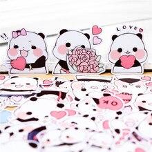 40PCS Creative cute Little panda Paper Sticker Decoration DIY Ablum Diary Scrapbooking Label Sticker Cute Stationery Decorative