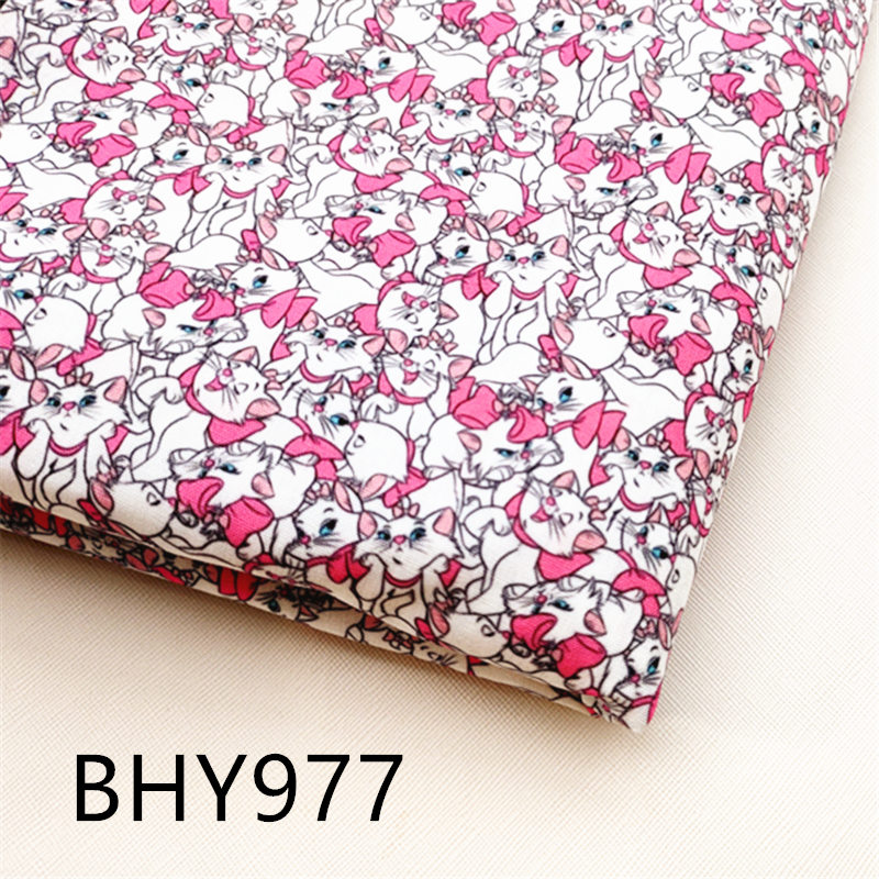 45*140cm Patchwork character print polyester cotton fabric for Sewing Dress Cloth Making DIY Cushion Cover BHY977