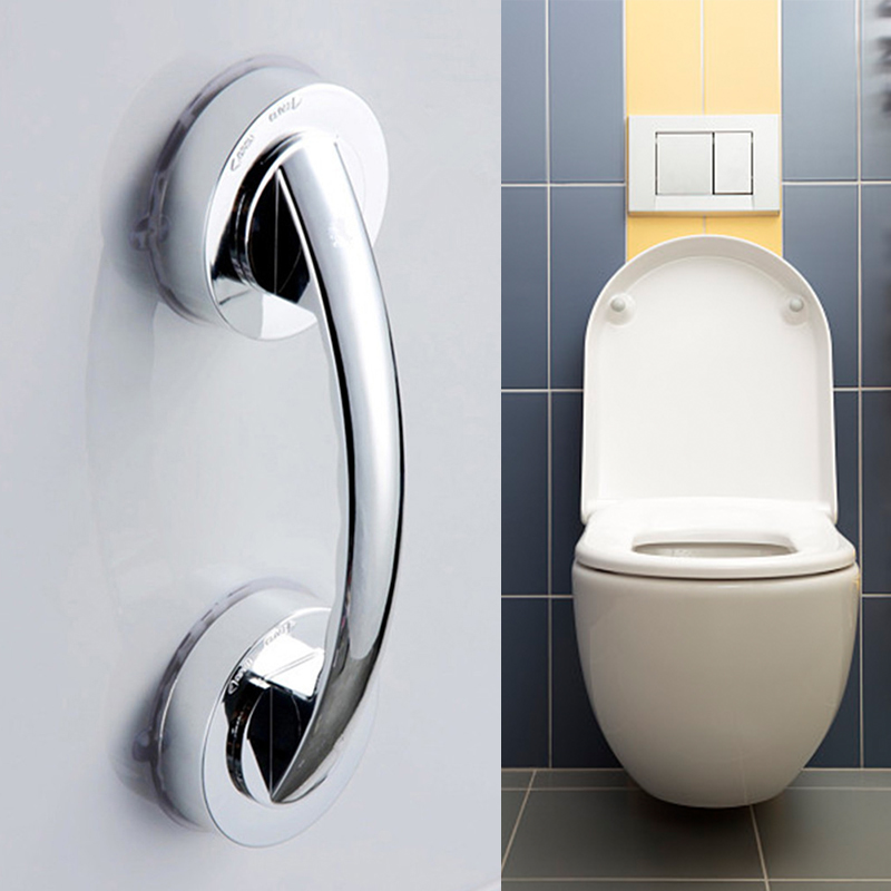 1pc Sucker Handrail Bathroom Safety Handrail Bar Bath Door Slip Handrail Stable Suction Cup Armrest Bathroom Accessories