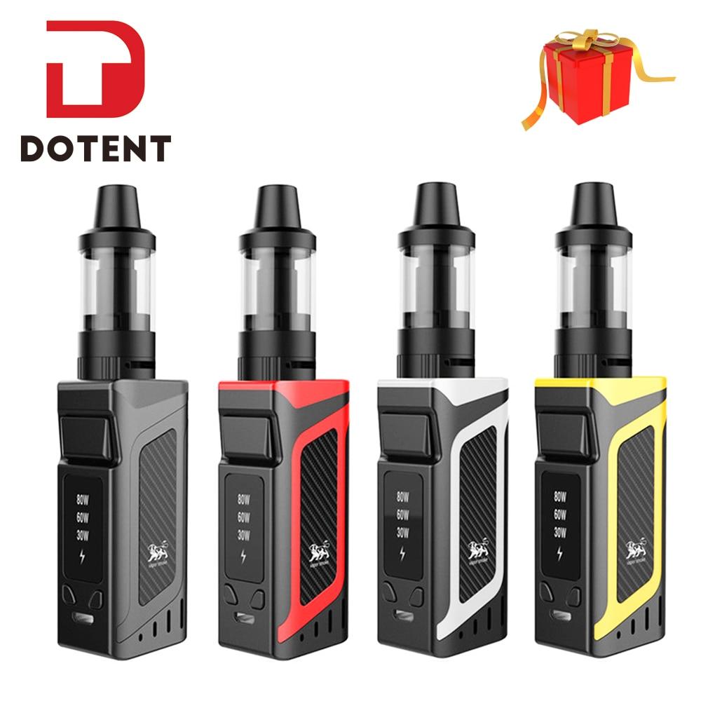 DOTENT VK Vape Kit Shisha Pen Hookah 80W Starter Kit 2000mAh Battery 510 Metal Body 3.5ml Atomizer Electronic Cigarette Vape