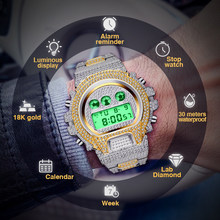 Bustdown Watch Man G style Shock Watches Men Gold Silver Digital Mens Watch Led Electronic Waterproof Full Diamond Male Watches(China)
