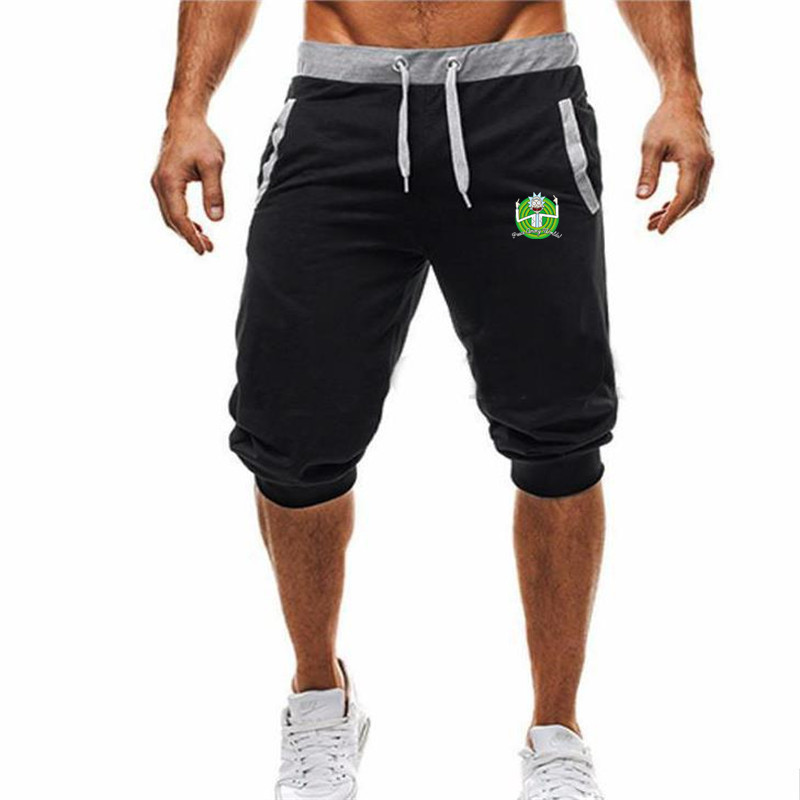 New Shorts Men Hot Sale Summer Leisure Knee Length Shorts Color Patchwork Joggers Short Sweatpants Trousers Men Bermuda S