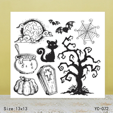 ZhuoAng Halloween Dead tree Claus Clear Stamps For DIY Scrapbooking/Card Making Decorative Silicon Stamp Crafts