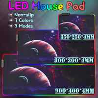RGB LED Gaming Mouse Pad Large Gamer Mousepad LED Lighting USB Keyboard Computer Mat Desk Pad Gaming Accessories