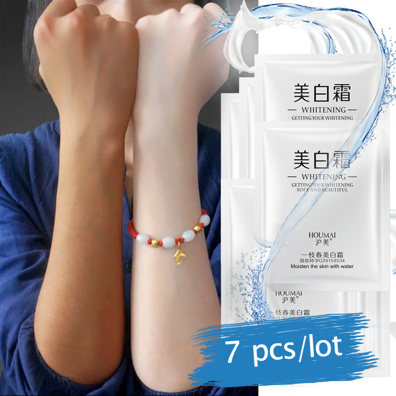 7pcs/lot Whitening Face Cream Moisturizing Anti Wrinkle Anti Aging Cream Remove Pigment Melanin Spots Hyaluronic Acid Freckle