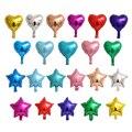 100 шт./лот микс 5 дюймов фольгированные воздушные шары в виде звезд и сердец для малышей на день рождения, свадьбу, вечеринки, надувные воздуш...