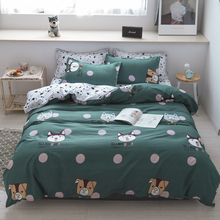 cute cartoon animal  Bedding Set AB Side Modern bed set Twin Queen King Size 3/4pcs Duvet Cover Sheet