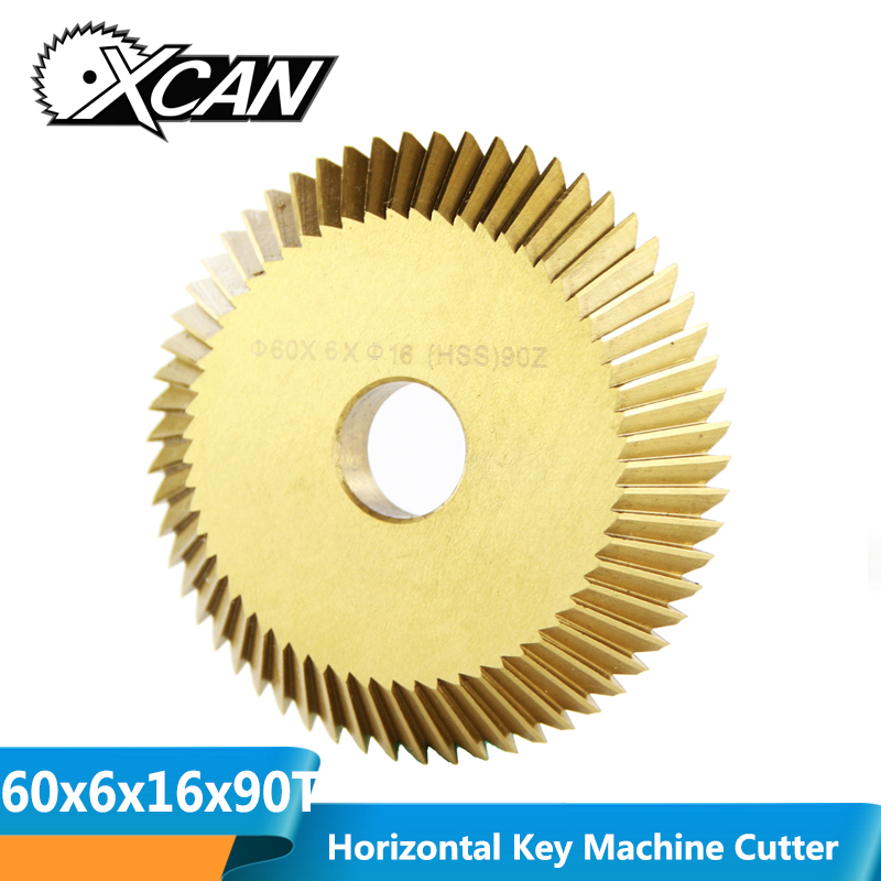 XCAN 60x6x16 90 Teeth Key Cutting Machine Circular Saw Blade For268A 2AS 238BS Single Side Key Machine Spare Parts