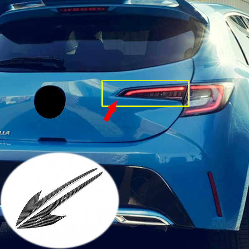 Carbon Fiber Rear Armrest Box Decor Cover Trim For Toyota Corolla Hatchback 2019