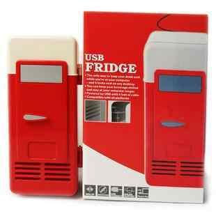 Настольный мини-холодильник USB гаджет банки для напитков охладитель теплее холодильник с внутренним светодиодный светильник для использования в автомобиле мини-холодильник